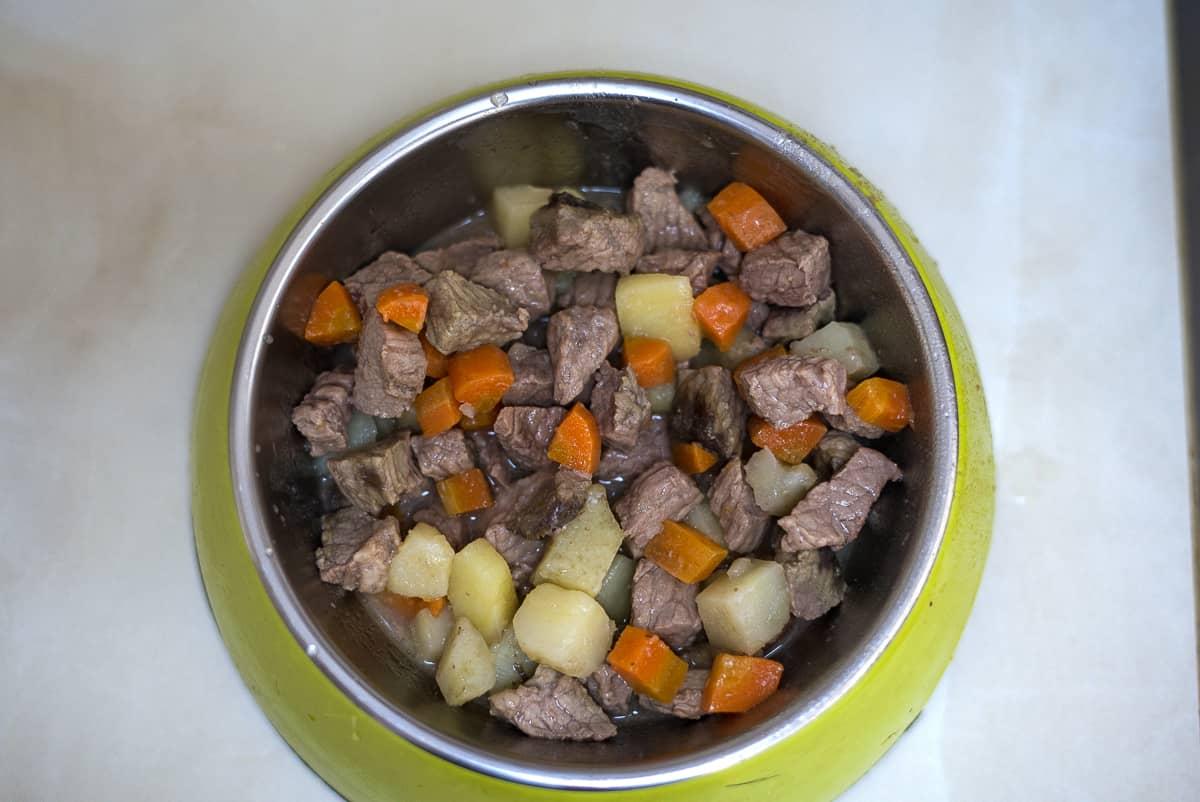 dog beef stew recipe